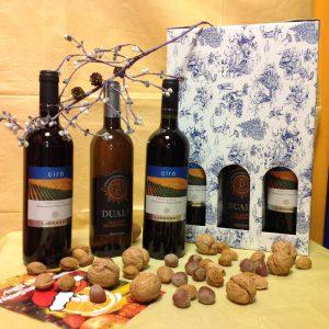 N10 scatola tris vini + fiocco